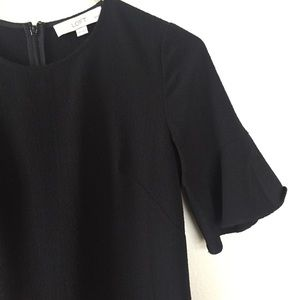 LOFT Dresses - Black ruffle sleeve dress size 00P!